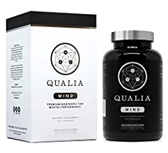BOOSTS FOCUS, MEMORY, MENTAL CLARITY & COGNITIVE PERFORMANCE – Qualia Mind nootropics is a premium supplement that helps support mental performance and brain health. Specifically designed to promote focus, support energy, mental clarity, mood, memory...