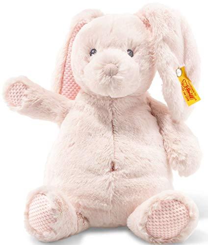 Steiff Soft Cuddly Friends Belly Hase - 28 cm - Kuscheltier für Babys - weich & waschbar - rose (240706)