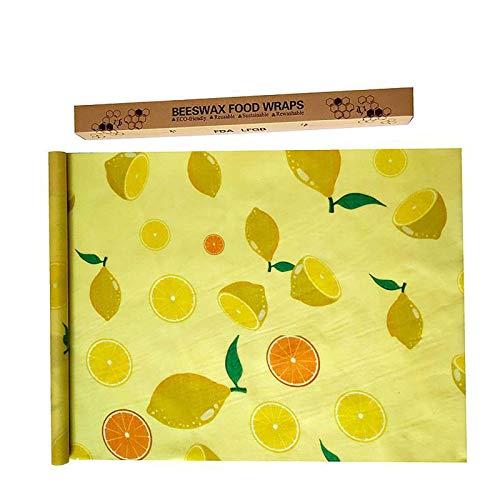 SHJAN Envases de Cera de Abejas Envases de Cera de Abejas biodegradables Sin Cera sintética ni Productos químicos Un Producto Tiene Tres Hojas de Papel Lemon