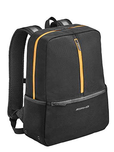 Mercedes-Benz Collection Rucksack Herren Mercedes-AMG GT | Herrenrucksack/Travelrucksack mit Laptopfach aus Polyester & Polyamid | schwarz, gelb