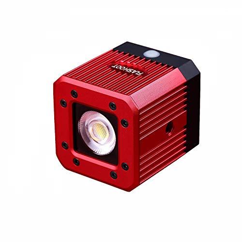 """HAFOKO für 8W 200LUX /1M wasserdichte Aluminiumlegierung Mini Pocket Cube LED Video Licht Strobe Funktion mit 1/4\""""Loch kompatibel für DSLR Smartphone Hero Drohne Camcorder DJI Zhiyun Feiyu Moza"""