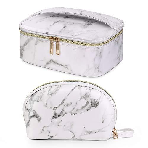 Maange 2 Pcs Makeup Bag Waterproof Cosmetic Bags with Gold Zipper Portable...