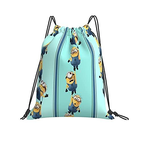 Minions - Bolsa de polietileno con cordón, bolsa de deporte, natación, para viajes, escuela, bolsa de hombro