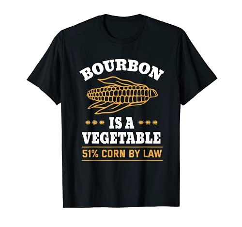 Le Bourbon est un légume Corn Whiskey Bourbon Drinking T-Shirt