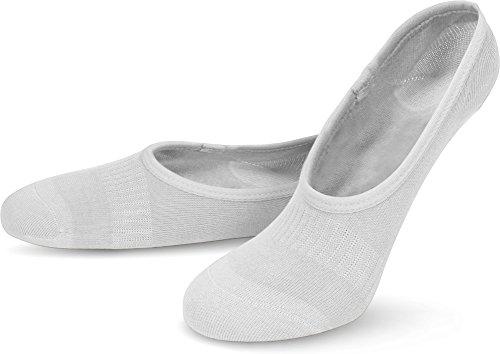 normani 3 Paar Viskose Füßlinge - unsichtbare Sneaker Socken - Kurze Socken mit Silikonstreifen für Damen und Herren Farbe Weiß Größe 35-38