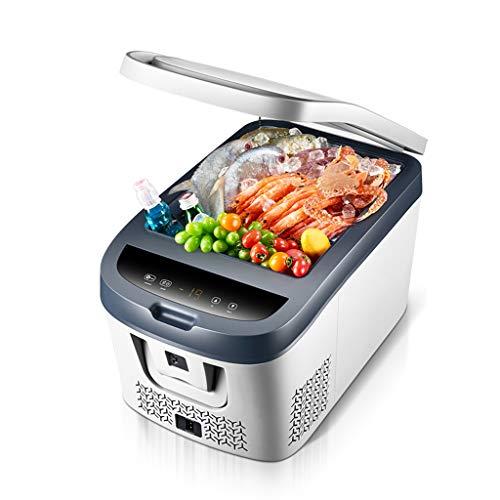 ZGM Nevera personal, mini nevera personal compacta caja de refrigeración, capacidad de 28L caja reefer, que incluye un convertidor doméstico y un enchufe para el cargador de coche de 12V / 24V