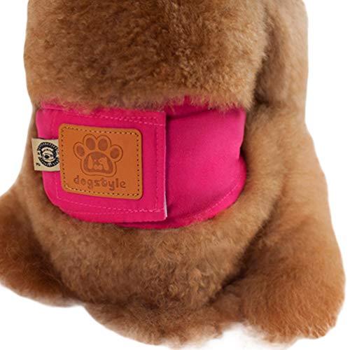 Yuncai Waschbar Sanitär Physiologische Hosen Atmungsaktiv Gemütlich Windel Unterhose für Haustier Hund Rot M