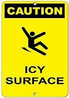 注意ICY表面危険標識氷雪警告標識アルミ金属標識