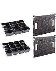 Bosch Sortimo inzetstuk voor kleine onderdelen 8x + 12x voor L-Boxx 102 incl. dekselinzetstukken