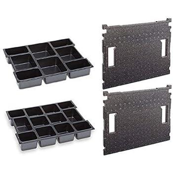 Bosch Sortimo Kleinteileinsatz 8 Mulden mit Deckeleinlage 102 Gr 1