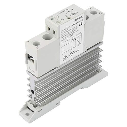 SMT4810L / SMT4825L DC Halbleiterrelais,Steuerung AC Ultradünnes einphasiges Halbleiterrelaismodul mit Basis 10A / 25A(SMT4810L)