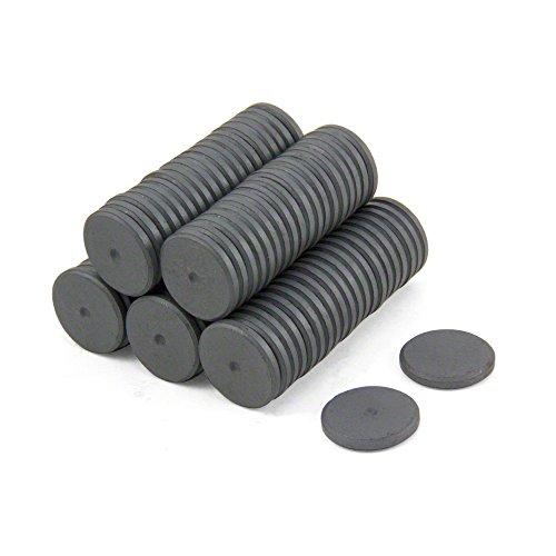 Magnet Expert 20 mm x 3 mm d'épaisseur Y10 aimant en ferrite - 0.6 kg Pull (paquet de 100)