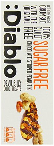 Diablo Sugar Free Cookies Geschmack Chocolate Striped Peanut