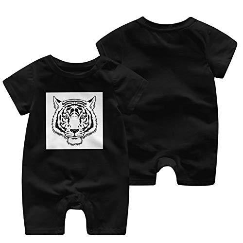 JOJOshop Tiger Zwart Wit Schets Baby Jumpsuit Korte mouw Zomer Romper