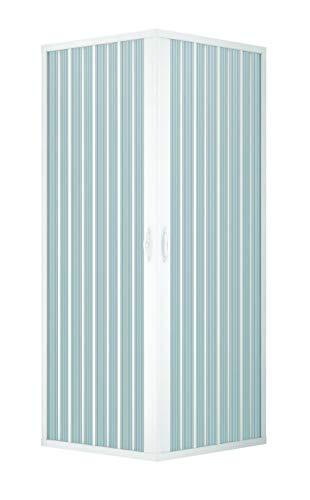 Douchecabine van PVC - 2 zijden - hoekopening - 70 x 100 cm