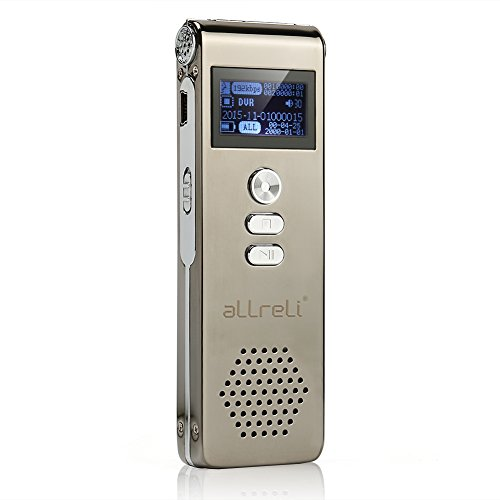 [Timer & A-B Reread] aLLreLi CP0260 Digital Voice Recorder - 8GB...