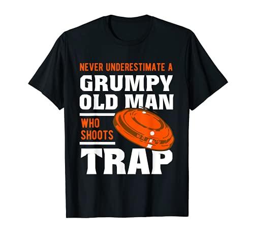 Nunca subestimar a un viejo gruñón - Trampa Tiro Arcilla Camiseta