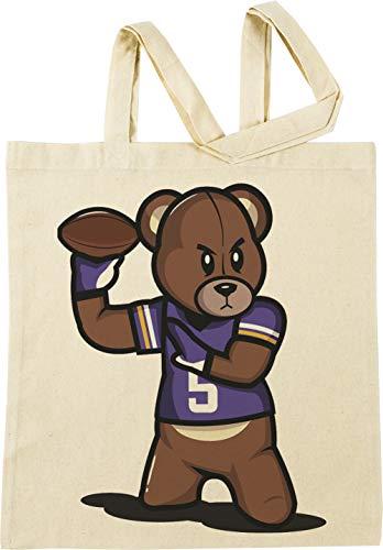 VICTRS - Teddy Fußball Beige Einkaufstasche