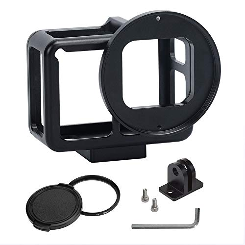 Aluminium Camera Hoesje Bescherming Frame Kooi Accessoires voor Gopro Hero 6 5 Sport Camera Stand Adapter, Zwart