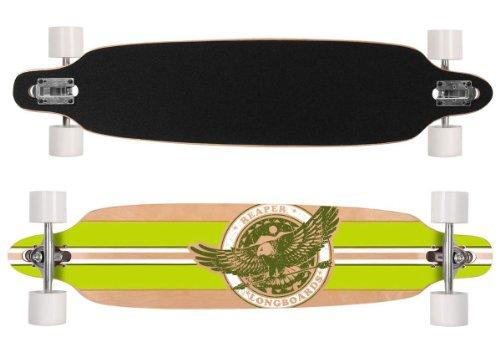 Reaper Longboard Skateboard ABEC-7 high Speed Rollen für Kinder ab 8 Jahren Mädchen Jungen breite Rollen 104cm lang