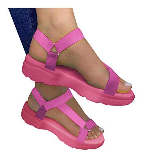 Writtian Sandalias Deportivas Mujer Verano Zapatos Verano para Caminar, Sandalias de Senderismo, Trekking, Playa, Casual, Sandalias Deportivas con Tiras, Sandalias de Punta Descubierta