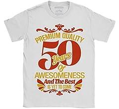 6TN Hombre 50 años de Asombroso y lo Mejor está por Llegar 50 cumpleaños Camiseta