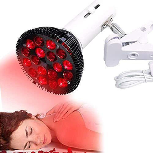 GUOSHUFANG Rotlichtlampe, 54 W Rote LED Lichttherapie Lampe, Rot, 660 nm und 850 nm im Nahen Infrarot, LED-Lampen zur Reparatur von Hautproblemen und Schmerzlinderung