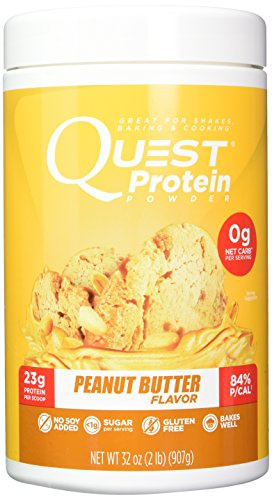 Quest Nutrition Peanut Butter Protein Powder, High Protein, Low Carb, Gluten Free, Soy Free, 2lb Tub