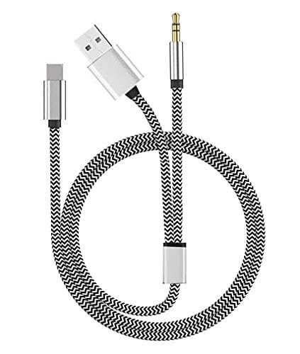AUX-Kabel für iPhone Jiadou 2-in-1 Auto Aux Adapter Kompatibel mit iPhone 7/8/X/11//12 auf Home/Auto-Stereoanlagen,Kopfhörer