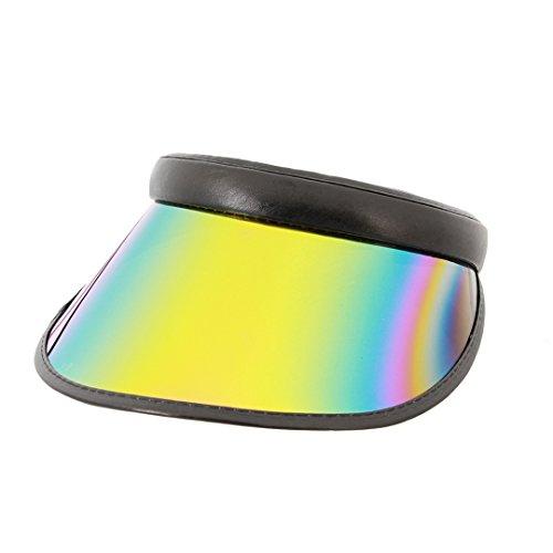Giovacker Women Plastic Sun Visor Hats Adjustable Headband UV Protection Cap for Outdoor Hiking Golf Riding Sports Beach Black