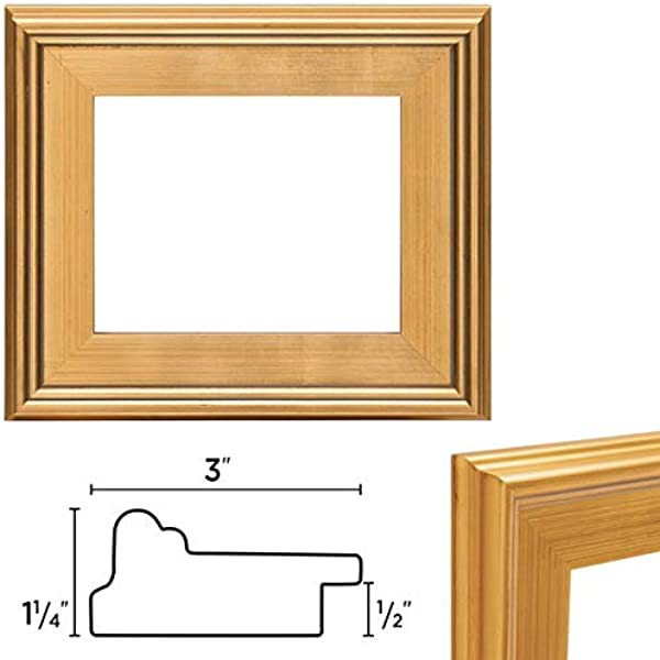 Creative Mark Plein Air Wooden Picture Frame Single Open Frame Size 9x12 Gold
