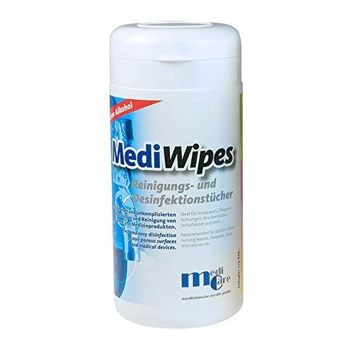 Mediwipes CPAP Reinigungstücher mit neutralem Duft, Spenderbox mit 115Tücher