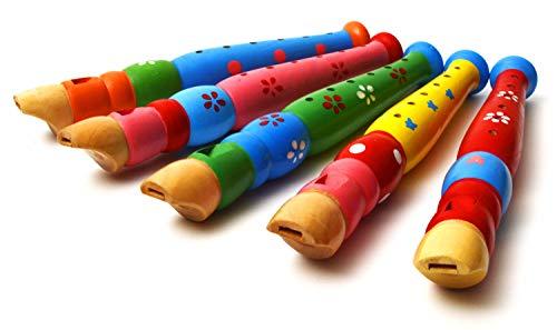 Flauta de madera Elagon para niños/principiantes. Un gran instrumento para los más pequeños, ideal para iniciarse en la música. Divertido, colorido y con un gran sonido. Viene en varios modelos y colores (colores elegidos al azar).