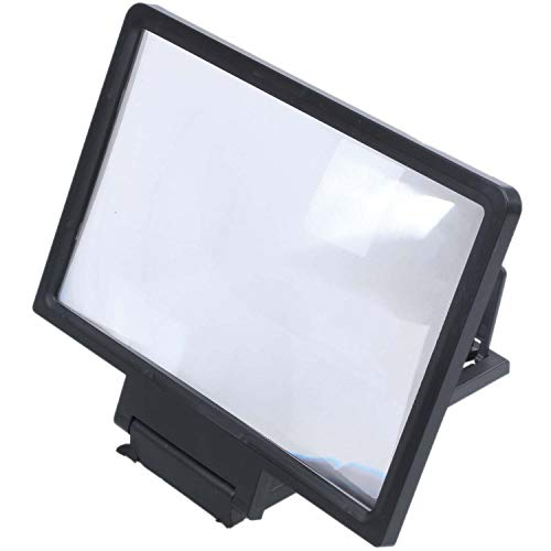 Ctzrzyt 3D Mobile Pantalla del Telefono Lupa Amplificador de Video HD para Telefonos Inteligentes Negro