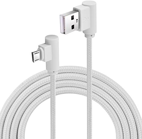 Micro USB to USB 2 0 Cable 2M External Nylon Woven Cable for Android Device 90 Degree Right product image
