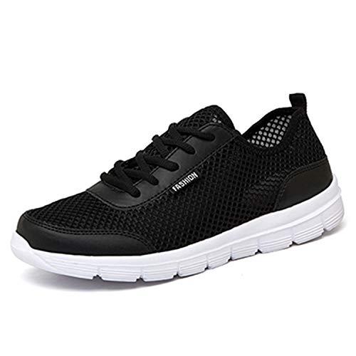 Light Men Shoes Summer Sneakers Breathable Fashion Mesh Casual Shoes Couple Lover Mens Mesh Shoes Big Plus Size Black