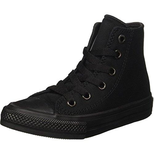 Converse Chuck Taylor All Star Ii Hi Sneaker Kids Shoe, Black, 11.5 Big Kid