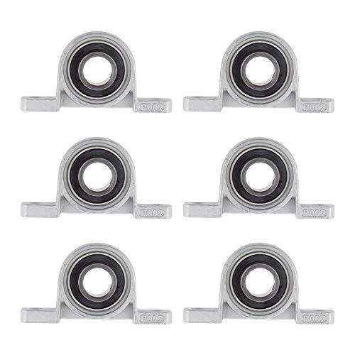 Base de Cojinete,Liwein 6 piezas Rodamientos de Cojinetes con Soporte Rodamientos de Bolas Bridas Rodamiento para Impresora 3D (15mm)