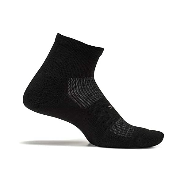 Feetures! – High Performance Cushion – Quarter – Black – Size Large