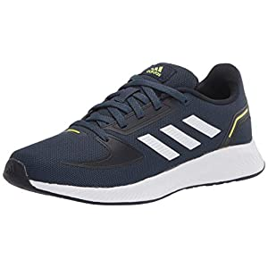 adidas Runfalcon 2.0 Running Shoe, Crew Navy/White/Ink, 4 US Unisex Big Kid