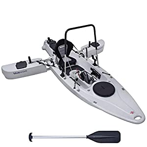 Bluewave Trident MOTORISED FISHING KAYAK – Powerful Motor, Foot Steering, Foldable Stabilisers, Stand Up Option
