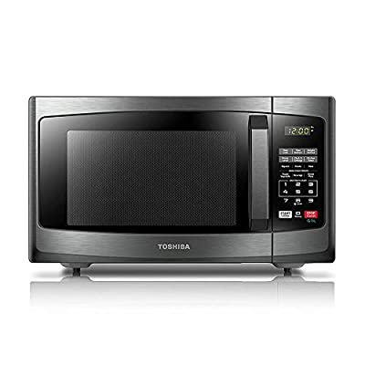 Toshiba EM925A5A-BS Sound On/Off Smart Countertop Microwave Oven, 0.9 Cu. ft/900W, Black Stainless Steel