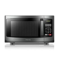 Toshiba EM925A5A-BS Microwave Oven with Sound On/Off ECO Mode and LED Lighting, 0.9 Cu. ft/900W, Black Stainless Steel
