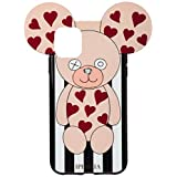 [アイフォリア] iPhone11対応 Teddy Hearts ブラック [並行輸入品]