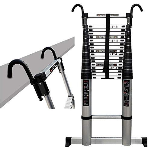 ALYR Escalera Telescópica, Extensible Escalera Multiusos Aluminio Telescópica Escaleras de Mano 150 kg / 330lb Capacidad de Carga para Industrial Daily Uso doméstico o de Emergencia,6.2m/20.34ft