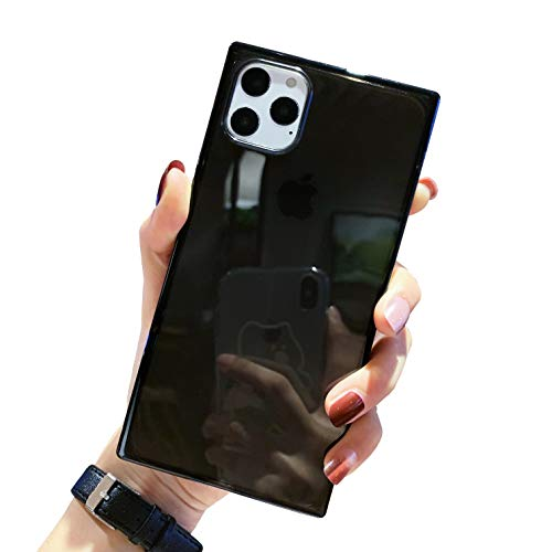 Tzomsze - Custodia trasparente per iPhone 11 Pro Max, con angoli rinforzati, in TPU, ultra sottile, antiurto, per iPhone 11 Pro Max 6,5 pollici, colore: Nero