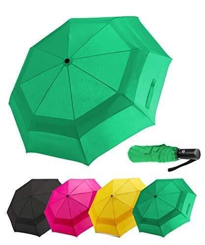 Paraguas compacto Yezhenghenta YZhua, para viaje, ventilado, doble canopa, resistente al viento, para abrir el coche V1.4-rosa