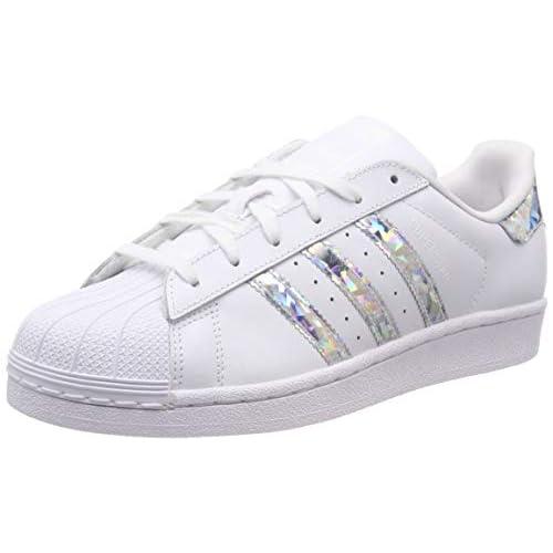 adidas Superstar J Scarpe da ginnastica Unisex bambini, Bianco (Ftwr White/Ftwr White/Ftwr White Ftwr White/Ftwr White/Ftwr White), 36 EU