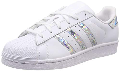 adidas Unisex-Child Superstar J Sneakers, White, 38 EU