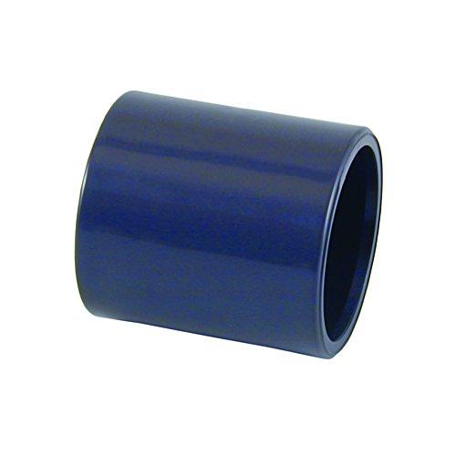 PVC Muffe 1 Stück beidseitiger Klebemuffe, Größe wählbar von 12-110mm (63mm)